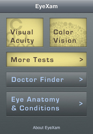 EyeXam iPhone app tests your vision