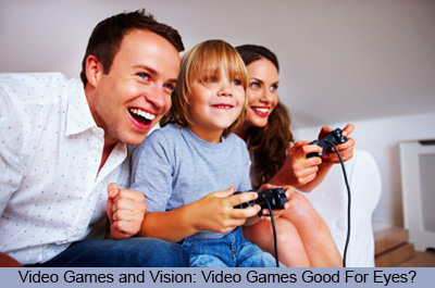 Video Games and Vision -- Video Games Good For Eyes?